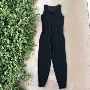 PAIGE Black Lounge Sleeveless Jumpsuit